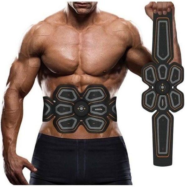 Centura electrostimulare Six Pack EMS GOLDTIN pentru abdomen si solduri 0