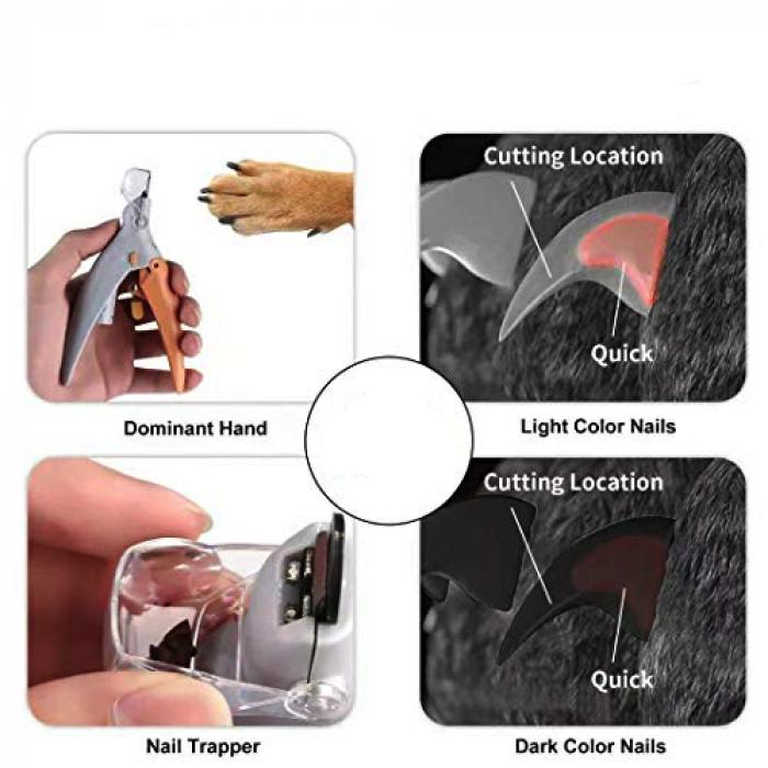 Cleste tip ghilotina pentru gheare animale, Peti Comfy cu lumina si factor marire 5X [3]