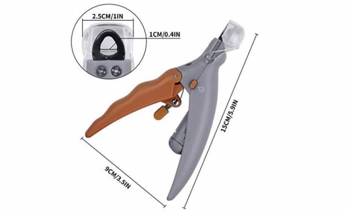 Cleste tip ghilotina pentru gheare animale, Peti Comfy cu lumina si factor marire 5X [4]