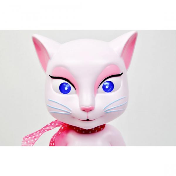 Pisicuta de jucarie amuzanta vorbitoare Talking Angela cu sunete si lumini [5]
