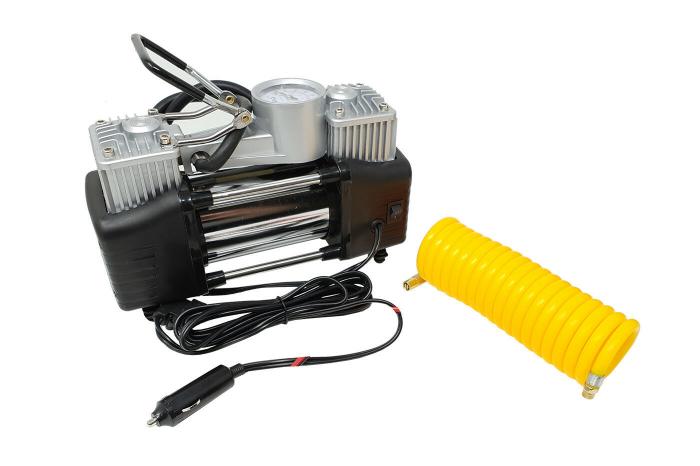 Compresor profesional auto 12V cu 2 cilindri si presiune 10 Bari 2