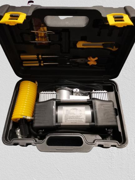 Compresor profesional auto 12V cu 2 cilindri si presiune 10 Bari 5