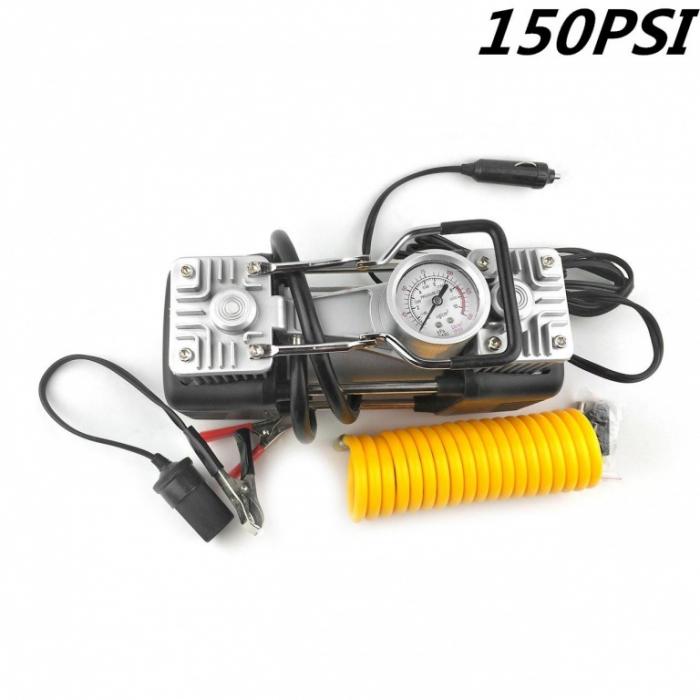 Compresor profesional auto 12V cu 2 cilindri si presiune 10 Bari 1