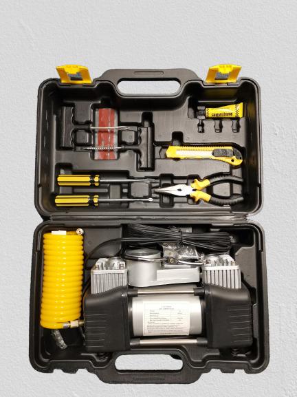 Compresor profesional auto 12V cu 2 cilindri si presiune 10 Bari 3
