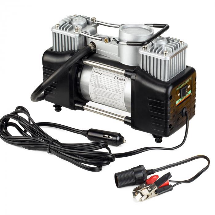 Compresor profesional auto 12V cu 2 cilindri si presiune 10 Bari 0