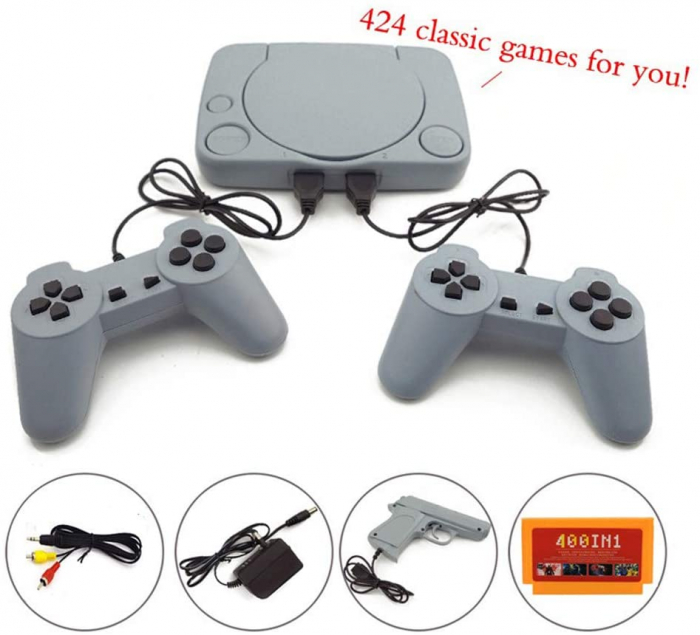 Consola de Jocuri Video Retro in memorie, cu 2 joystick-uri incluse, Jocurile Copilariei [5]