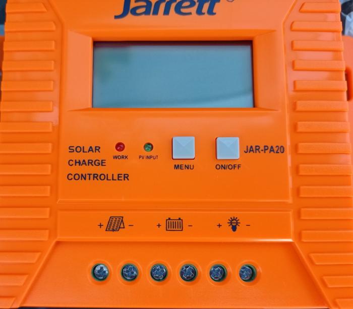 Controller pentru panou solar Jarrett 20 A cu afisare LCD si iesire USB (5V-2A) [4]