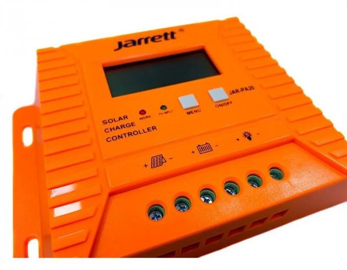 Controller pentru panou solar Jarrett 20 A cu afisare LCD si iesire USB (5V-2A) [1]