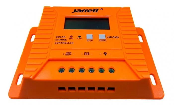 Controller pentru panou solar Jarrett 20 A cu afisare LCD si iesire USB (5V-2A) [0]