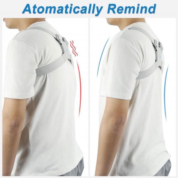 Corector de postura cu senzor inteligent si vibratii pentru spate drept 1