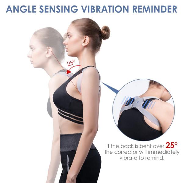 Corector de postura cu senzor inteligent si vibratii pentru spate drept 5