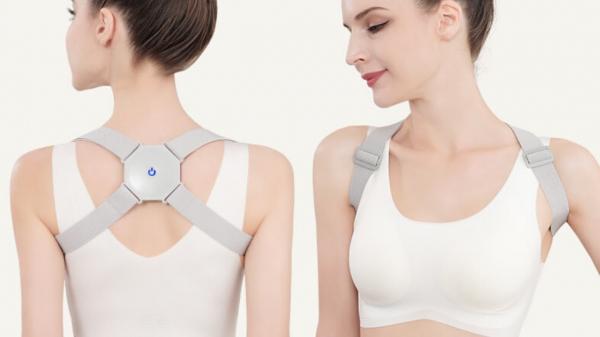 Corector de postura cu senzor inteligent si vibratii pentru spate drept 4