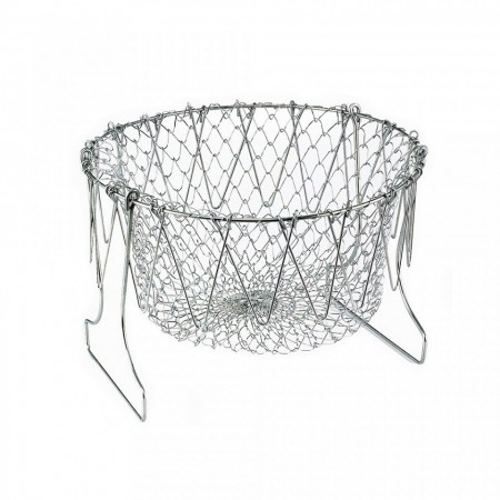 Cos Chef Basket 12 in 1 universal pentru gatit scurs din inox 2
