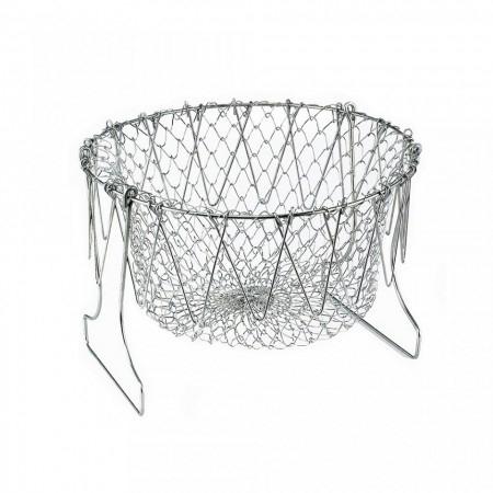 Cos Chef Basket 12 in 1 universal pentru gatit scurs din inox 1