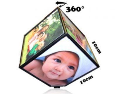 Cub rotativ foto personalizat cu 6 poze 10 x 10 cm 0