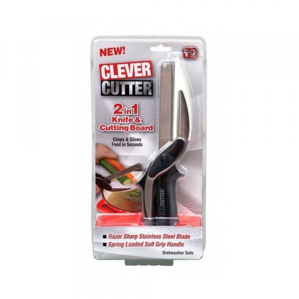 Cutit pentru bucatarie multifunctional Smart Cutter 2 in 1 [0]