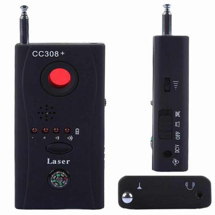 Detector optic-radio pentru camere si microfoane ascunse cu filtru IR, CC308+ [1]