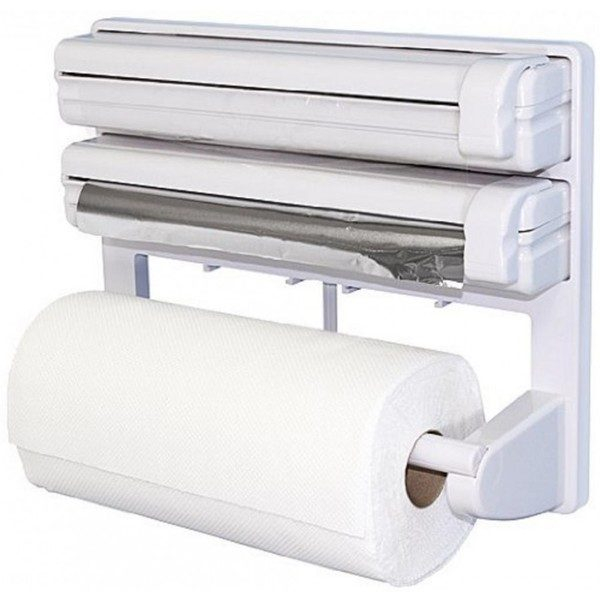 Dispenser de bucatarie pentru hartie, folie aluminiu si folie stretch Triple Paper 0