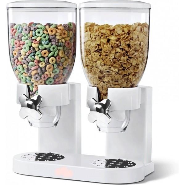 Dispenser de cereale dublu cu capacitate de 7 litri 0