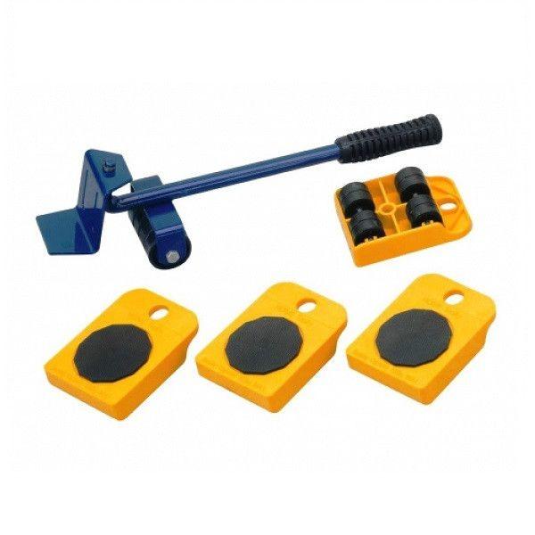 Dispozitiv pentru mutat mobila sau alte obiecte grele cu 4 role x 150 Kg 2