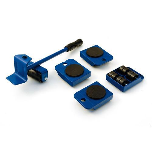 Dispozitiv pentru mutat mobila sau alte obiecte grele cu 4 role x 150 Kg 1