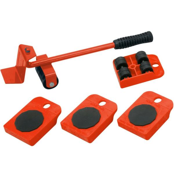 Dispozitiv pentru mutat mobila sau alte obiecte grele cu 4 role x 150 Kg 0