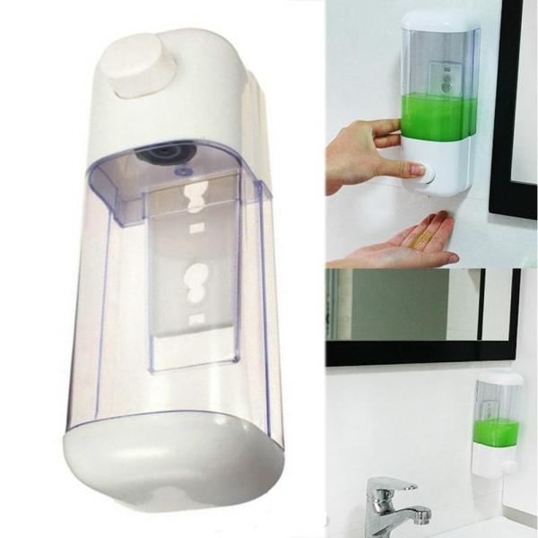 Dozator manual de perete pentru sapun lichid dezinfectant maini 0