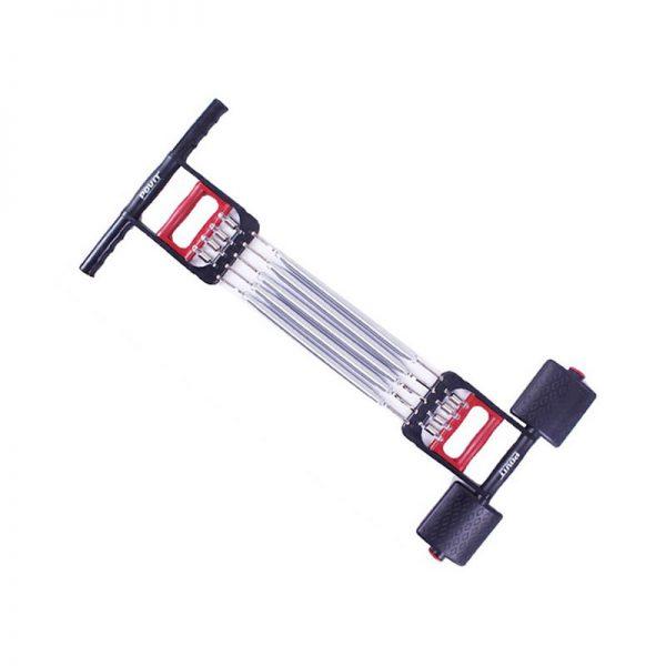 Extensor fitness multifunctional cu arcuri metalice pentru brate, piept si picioare 0