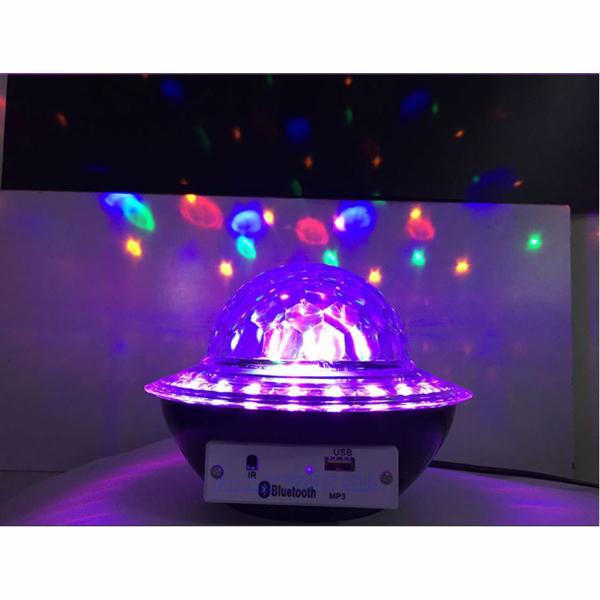 Glob disco cu LED RGB jocuri de lumini si MP3 prin Bluetooth Crystal Magic Balll [4]