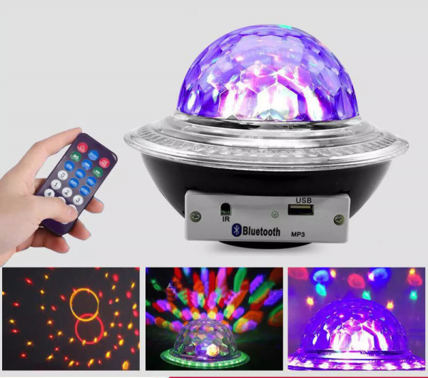 Glob disco cu LED RGB jocuri de lumini si MP3 prin Bluetooth Crystal Magic Balll [1]