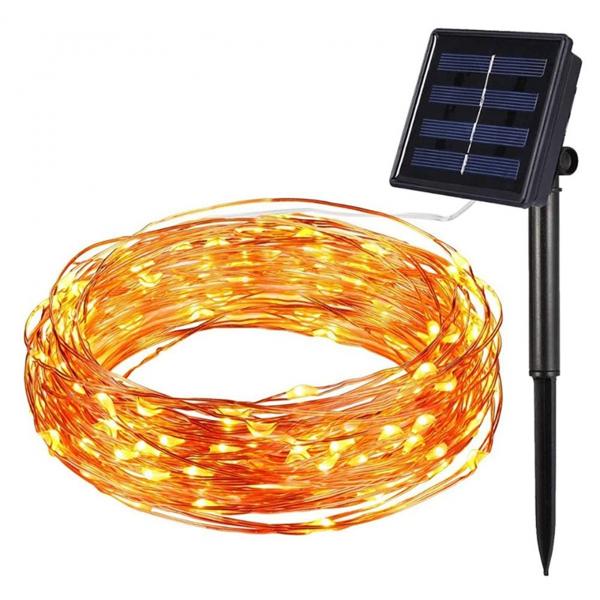 Instalatie solara pentru casa sau gradina 120 LED cu 14 m si lumina calda [5]