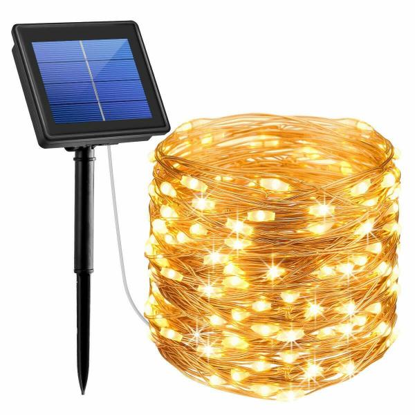 Instalatie solara pentru casa sau gradina 120 LED cu 14 m si lumina calda [3]