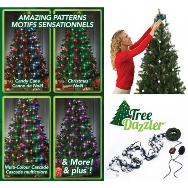 Instalatie luminoasa pentru brad cu 64 Globuri LED si 16 culori,Tree Dazzler 0