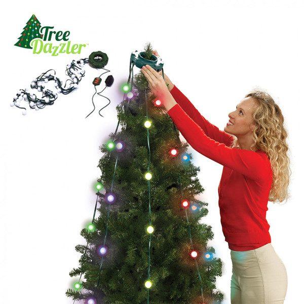 Instalatie luminoasa pentru brad cu 64 Globuri LED si 16 culori,Tree Dazzler 2