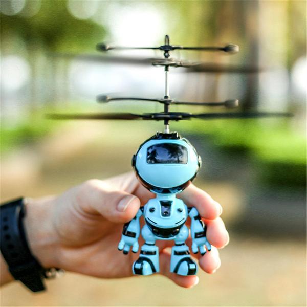Jucarie interactiva Robot care zboara, reincarcabila cu USB 1