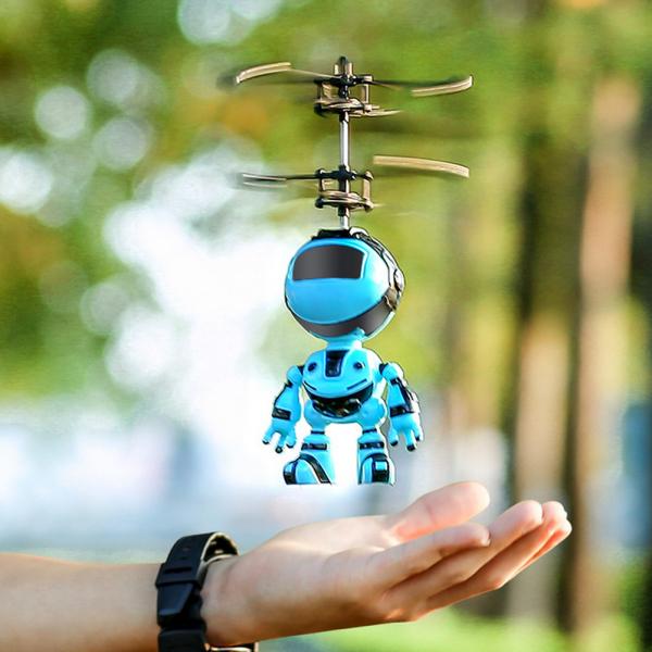 Jucarie interactiva Robot care zboara, reincarcabila cu USB 0