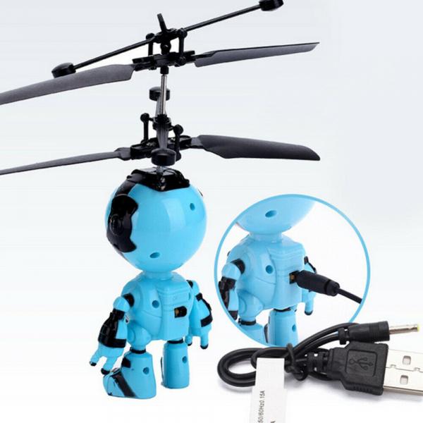 Jucarie interactiva Robot care zboara, reincarcabila cu USB 2