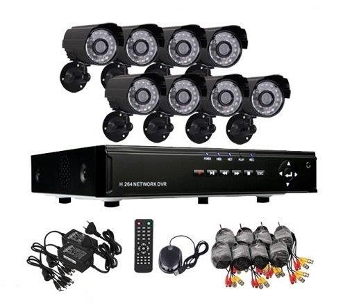 Kit 8 camere de supraveghere exterior cu infrarosu CCTV DVR Internet D1 1