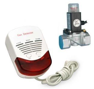 Kit detector gaz metan si GPL cu electrovana 3/4 Detect GAZ 0