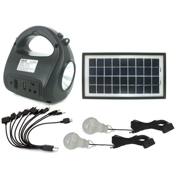 Kit sistem solar cu stick USB si card de memorie GDLITE GD-8009 0
