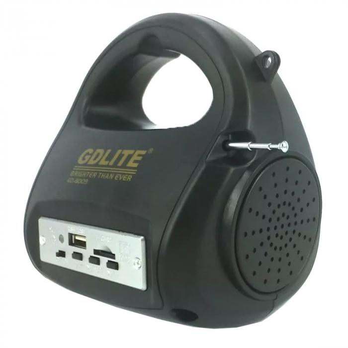 Kit sistem solar Gdlite GD-8009, cu slot citire prin USB si slot TF Card [1]