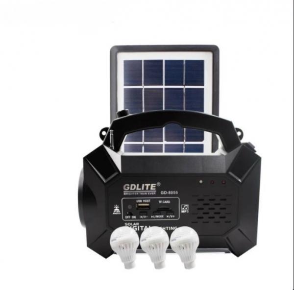 Kit solar panou fotovoltaic cu 3 becuri RADIO mp3 si USB GDLITE GD-8056 [0]