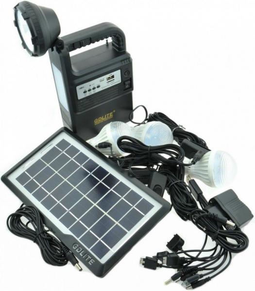 Kit solar panou fotovoltaic de camping si drumetii Gdlite GD-8133 [1]