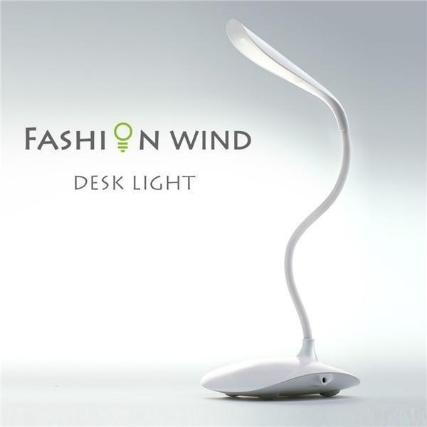 Lampa de birou reglabila cu senzor tactil si USB Fashion Wind 0