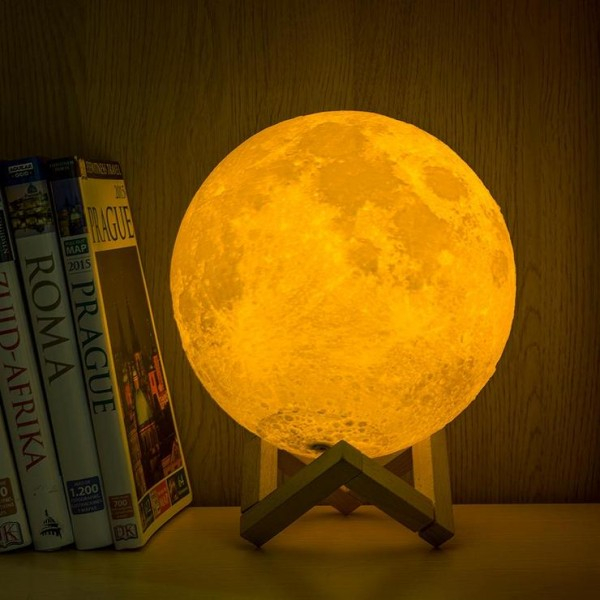Lampa decorativa 3D Moonlight cu USB si luminozitate ajustabila 4
