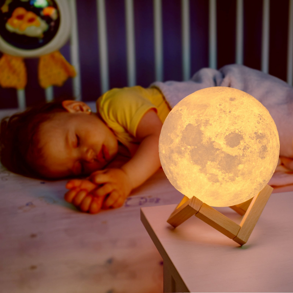 Lampa decorativa 3D Moonlight cu USB si luminozitate ajustabila 2