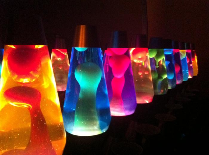 Lampa decorativa cu ceara colorata miscatoare, Lava Lamp [2]