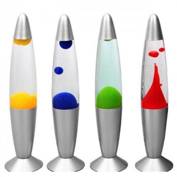 Lampa decorativa Lava Lamp, cu ceara colorata miscatoare [0]