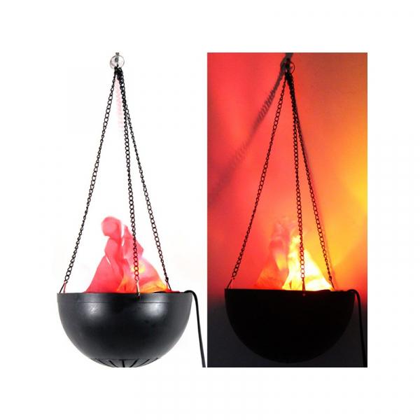 Lampa electrica ce imita flacarile cu flacara falsa 3