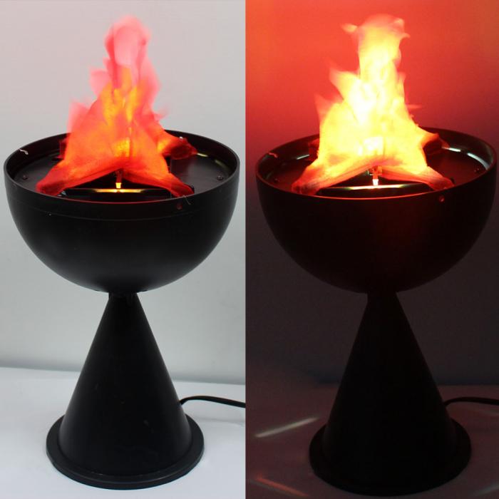 Lampa electrica cu picior ce imita flacarile cu flacara falsa 2